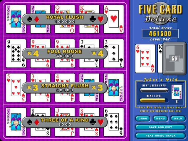 5 card draw poker full screen